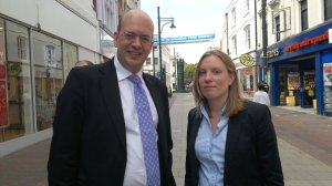 MPs Mark Reckless and Tracey Crouch in Chatham