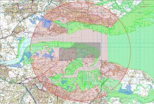 RSPB map showing extent of Foster proposal