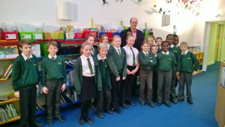 Mark Reckless  pupils from Cedar Primary in Strood