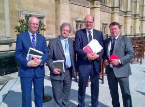 Mark Reckless with representatives of Medway Council at the Thames Estuary Airport costs summit in Westminster