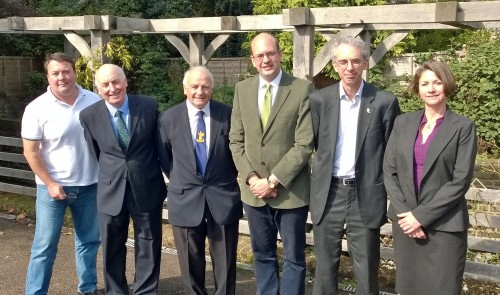 Mark Reckless (centre) meets with representatives of RSPB and Medway Countryside Forum to discuss threat to Lodge Hill