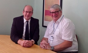 Mark Reckless with Dr Philip Barnes, Chief Executive of Medway Maritime Hospital